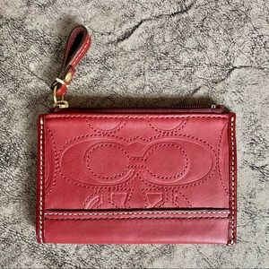 NWOT - COACH Skinny All Leather Coin Purse